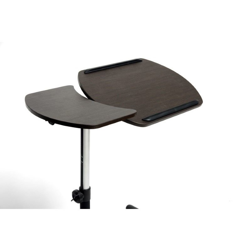 Baxton Studio Olsen Brown Wheeled Laptop Tray Table with Tilt Control