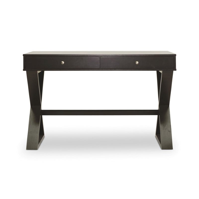 Baxton Studio Ottwell Dark Brown Modern Desk