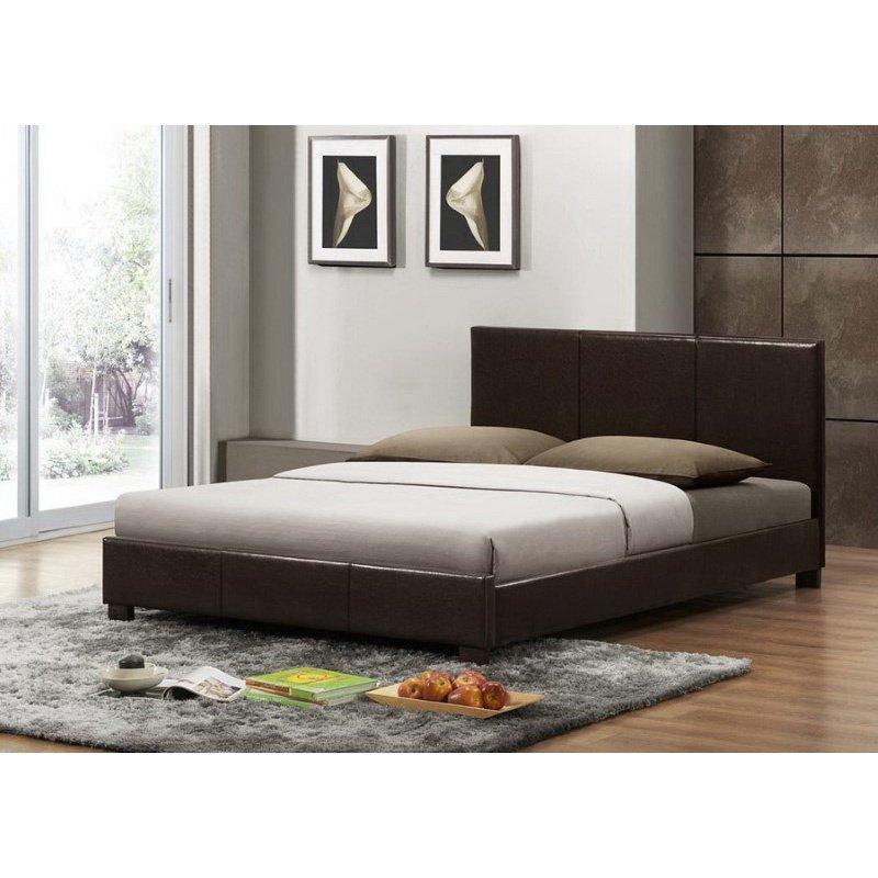 Baxton Studio Pless Dark Brown Modern Bed in Queen Size