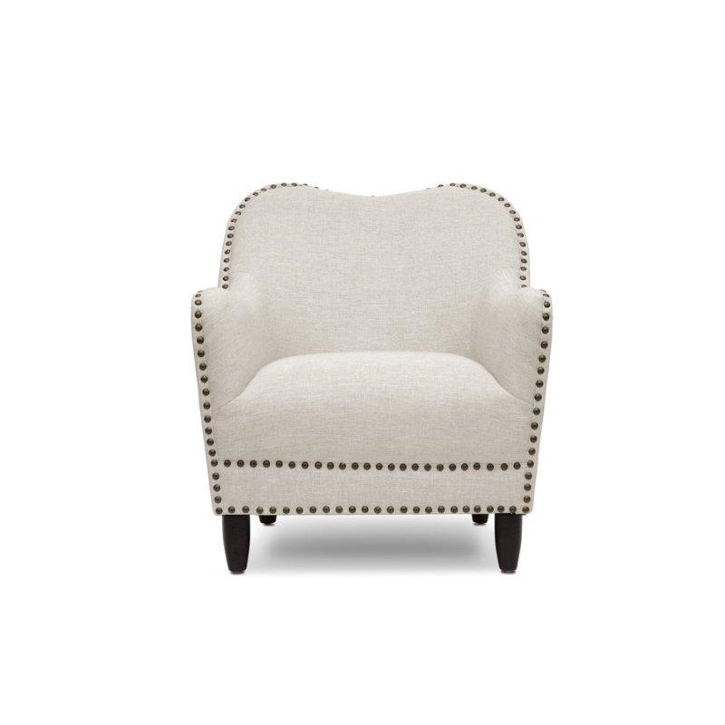 Baxton Studio Seibert Beige Linen Modern Accent Chair
