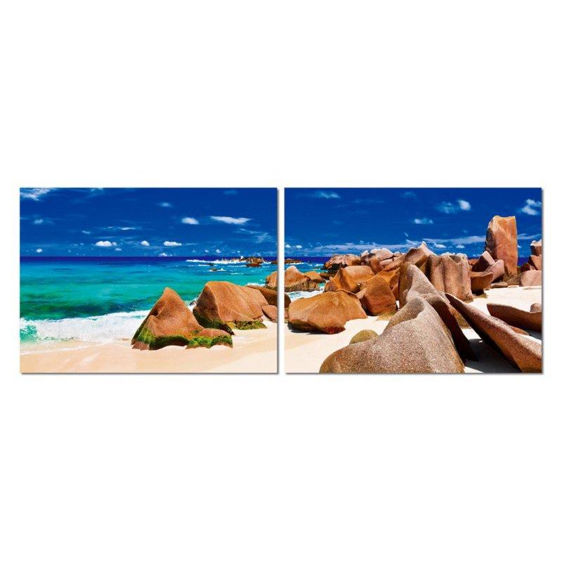 Baxton Studio Tasmanian Tide Mounted Photography Print Diptych