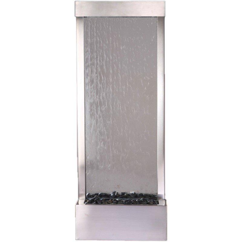 Bluworld HOMelements Gardenfall 4' Stainless Steel Gardenfall with Clear Glass (GF4SG)