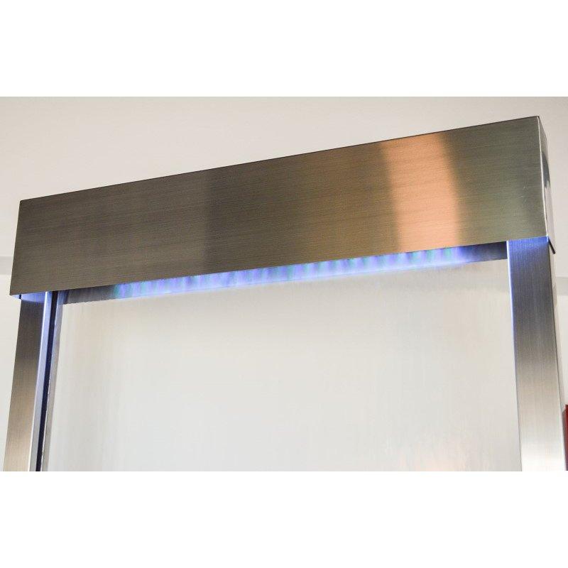 Bluworld HOMelements Gardenfall 8' Stainless Steel Gardenfall with Clear Glass (GF8SG)