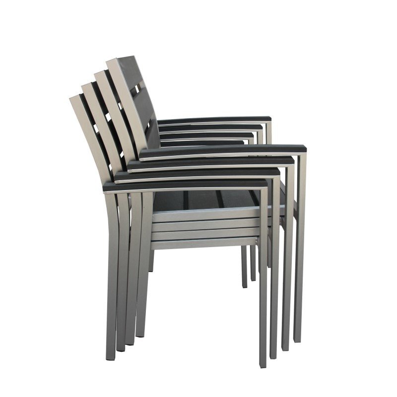 Boraam Fresca Polylumber Captain's Chairs (Set of 4)