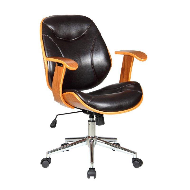 Boraam Rigdom Desk Chair in Brown