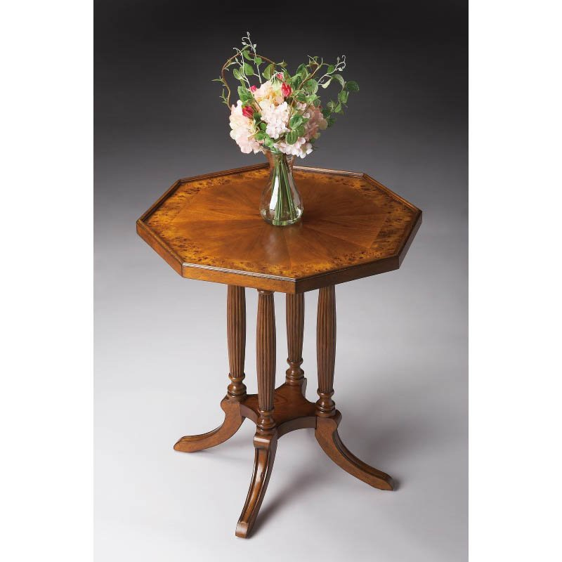 Butler Specialty Adolphus Olive Ash Burl Octagonal Accent Table