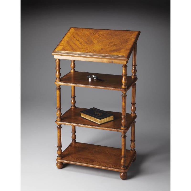 Butler Specialty Alden Vintage Oak Library Stand