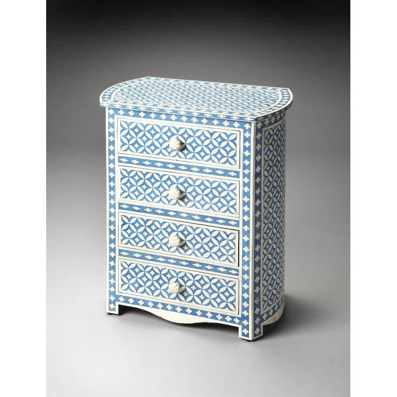 Butler Specialty Amelia Blue Bone Inlay Accent Chest