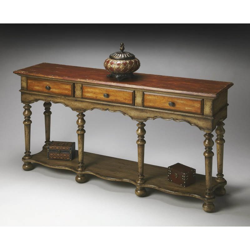 Butler Specialty Artists Originals Console Table in Rustic Retreat