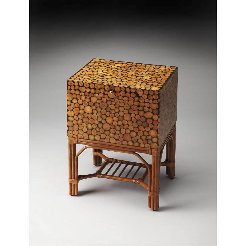 Butler Specialty Bali Rattan File Chest