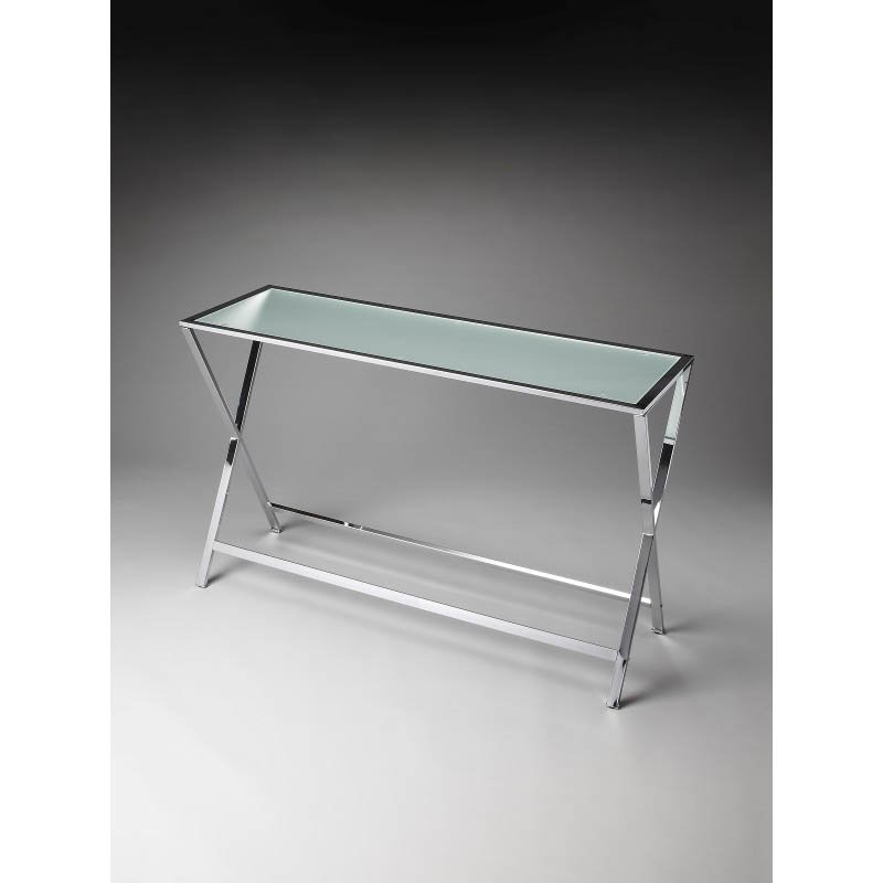 Butler Specialty Bergen Frosted Glass Console Table