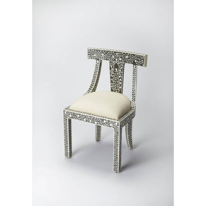 Butler Specialty Black Bone Inlay Accent Chair