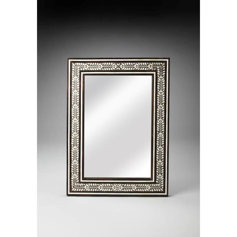 Butler Specialty Bone Inlay & Wood Wall Mirror