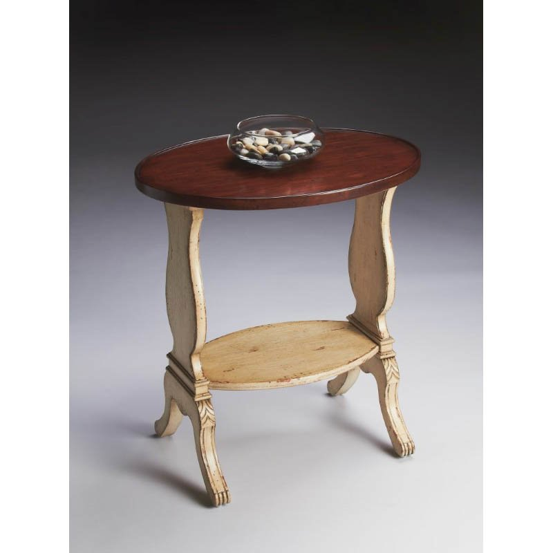 Butler Specialty Briar Vanilla & Cherry Oval Accent Table