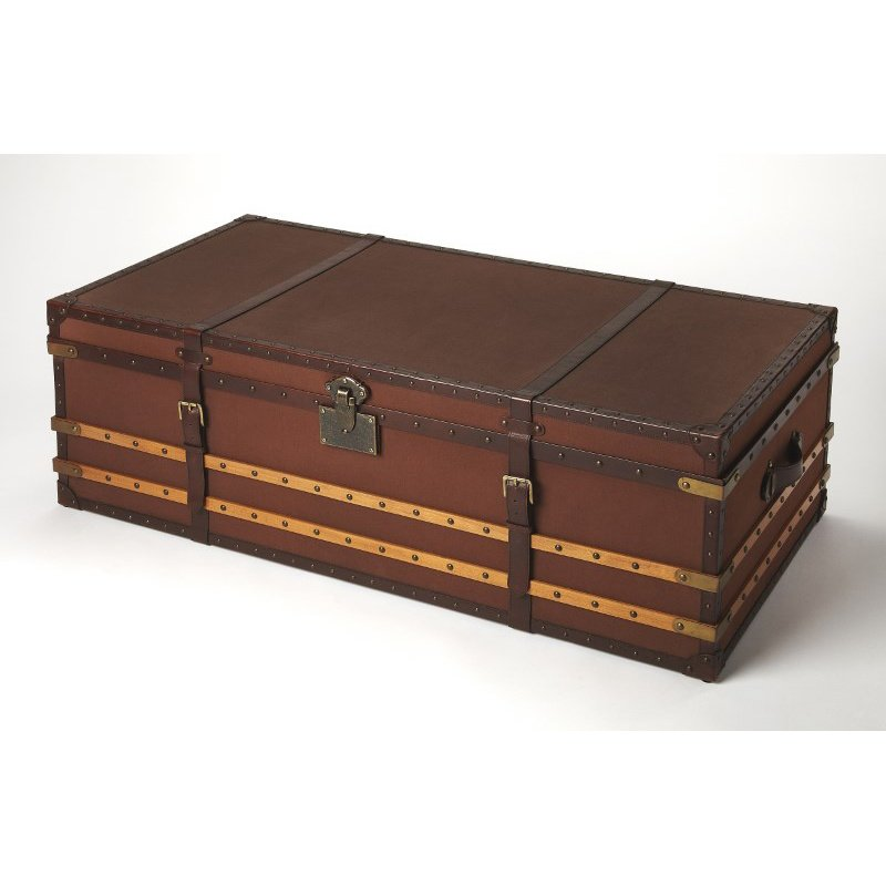 Butler Specialty Brinson Brown Leather Storage Trunk (5296350)