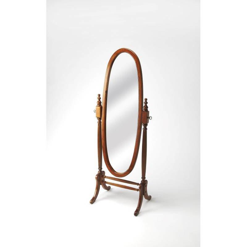 Butler Specialty Caroline Olive Ash Burl Cheval Mirror