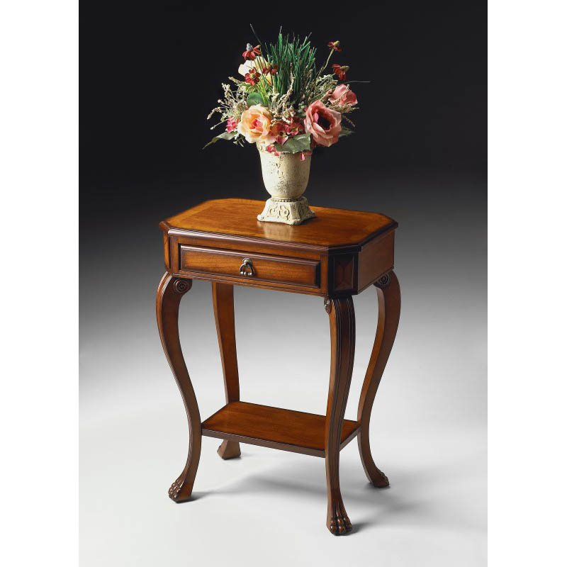 Butler Specialty Channing Olive Ash Burl Console Table