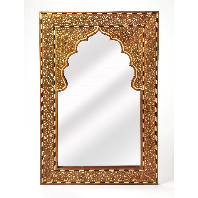 Butler Specialty Chevrier Wood & Bone Inlay Wall Mirror (3886338)