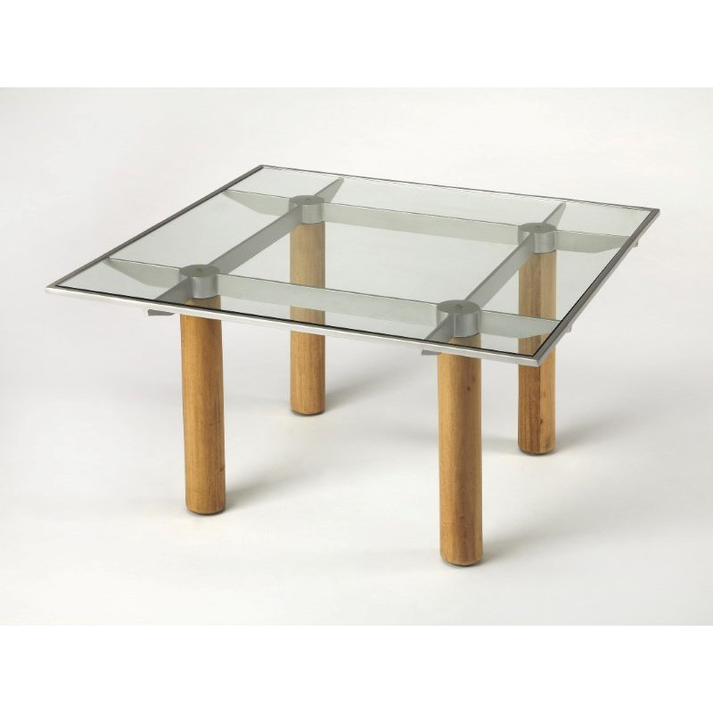 Butler Specialty Cirrus Glass & Metal Cocktail Table (3782140)