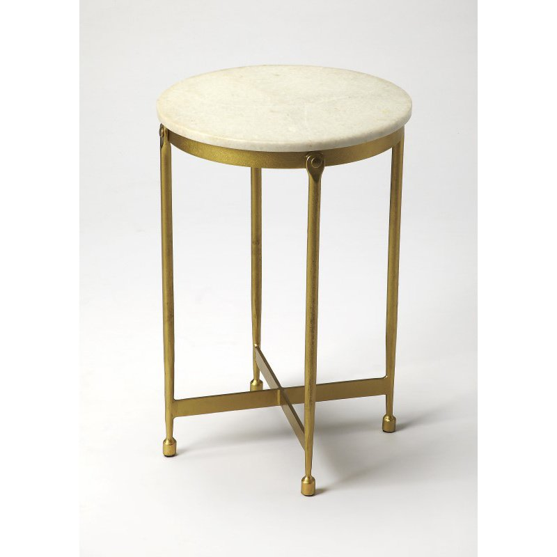 Butler Specialty Claypool White Marble End Table (9351025)