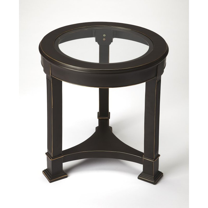 Butler Specialty Corinth Black Metal End Table (3820025)