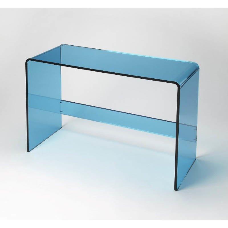 Butler Specialty Crystal Blue Acrylic Console Table