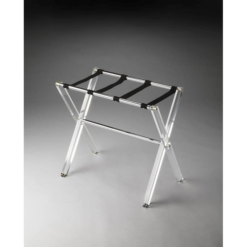 Butler Specialty Crystal Clear Acrylic Luggage Rack