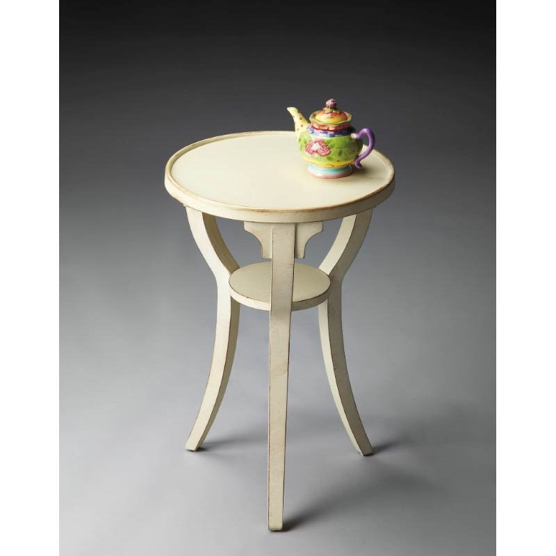 Butler Specialty Dalton Cottage White Round Accent Table