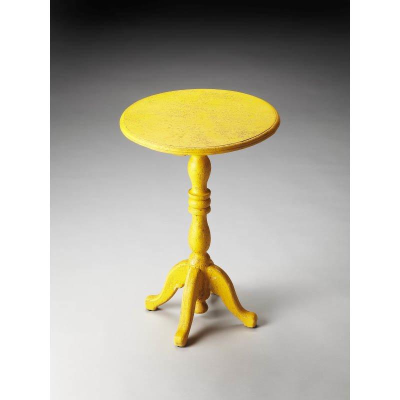 Butler Specialty Duxbury Yellow Reclaimed Wood Pedestal Table