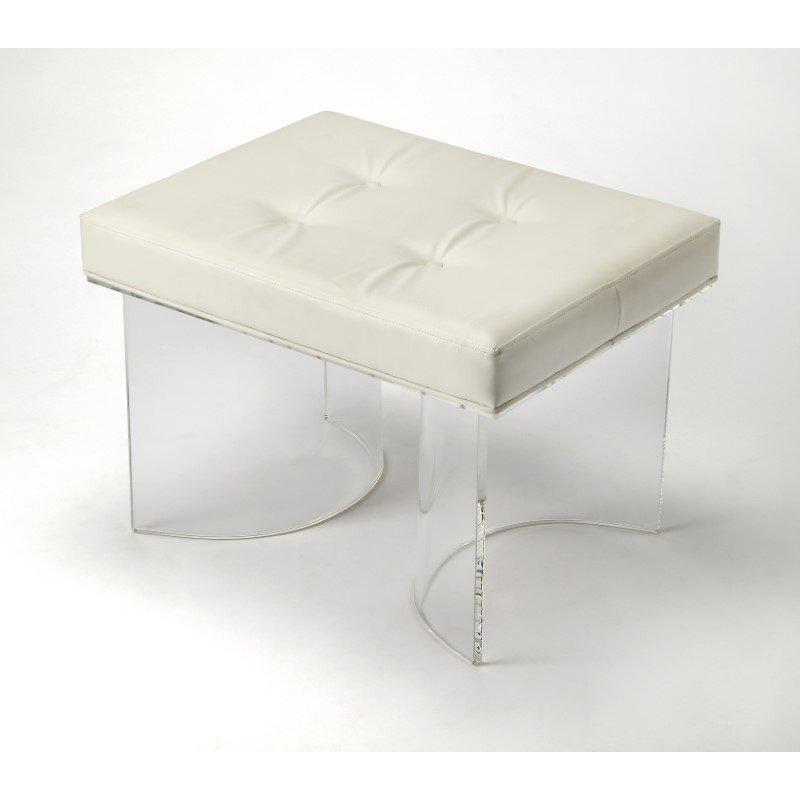 Butler Specialty Ellipse Clear Acrylic Vanity Stool (4328335)