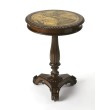 Butler Specialty Etched Brass Round Pedestal Table
