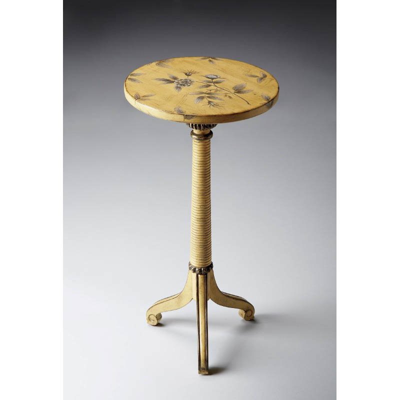 Butler Specialty Florence Yellow Floral Pedestal Table