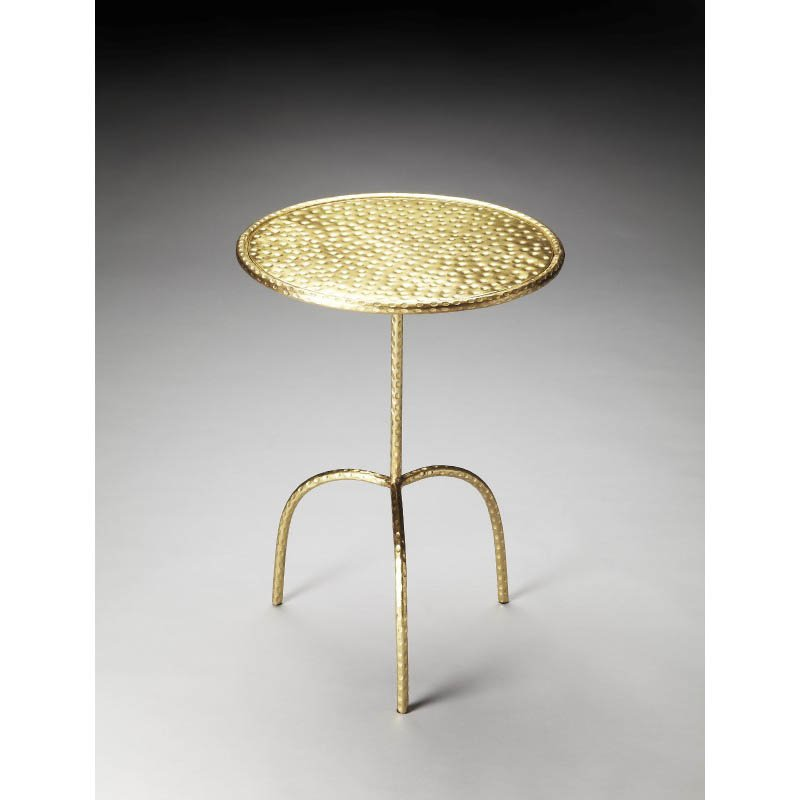 Butler Specialty Founders Brass Finished Pedestal Table