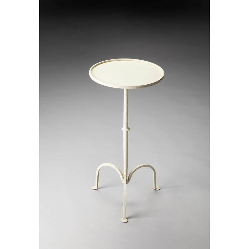 Butler Specialty Founders White Iron Pedestal Table