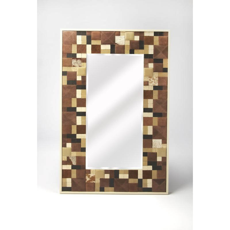 Butler Specialty Gagne Hair-On-Hide Wall Mirror