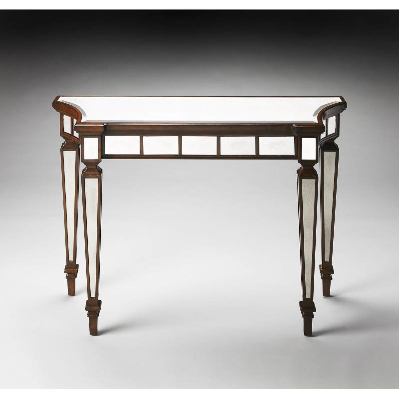 Butler Specialty Garbo Mirror And Mahogany Console Table