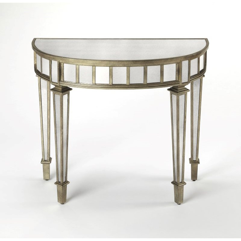 Butler Specialty Garbo Mirrored Demilune Console Table (3637146)