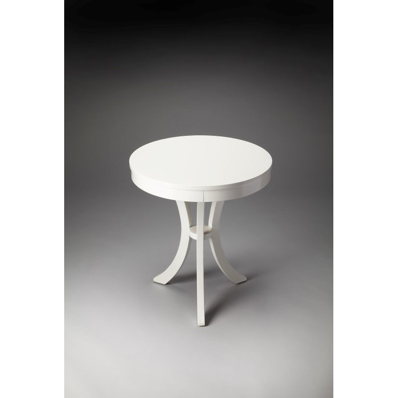Butler Specialty Gerard Glossy White Side Table (7007304)