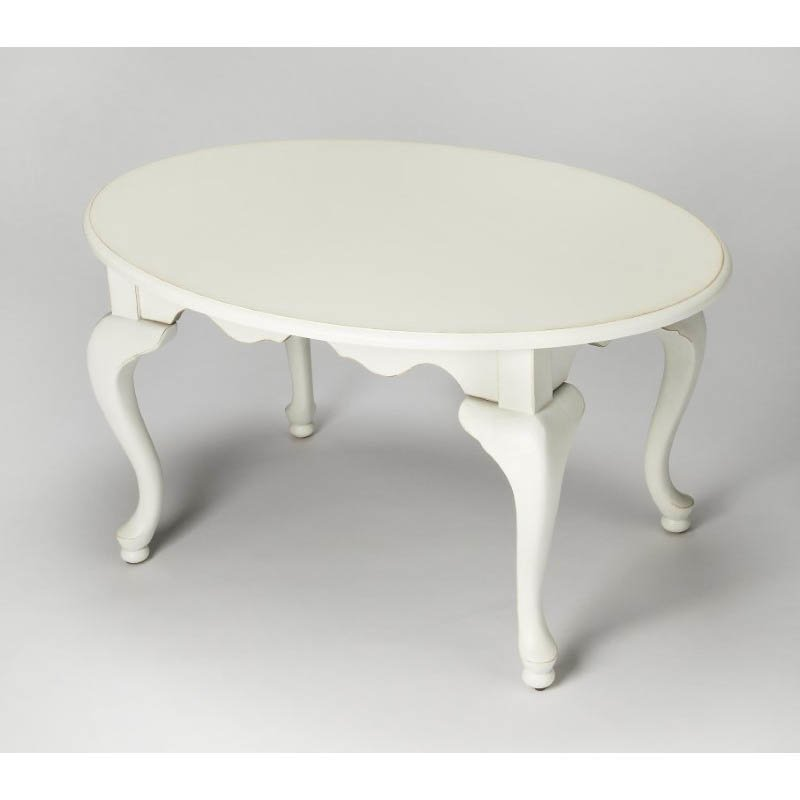 Butler Specialty Grace Cottage White Oval Cocktail Table