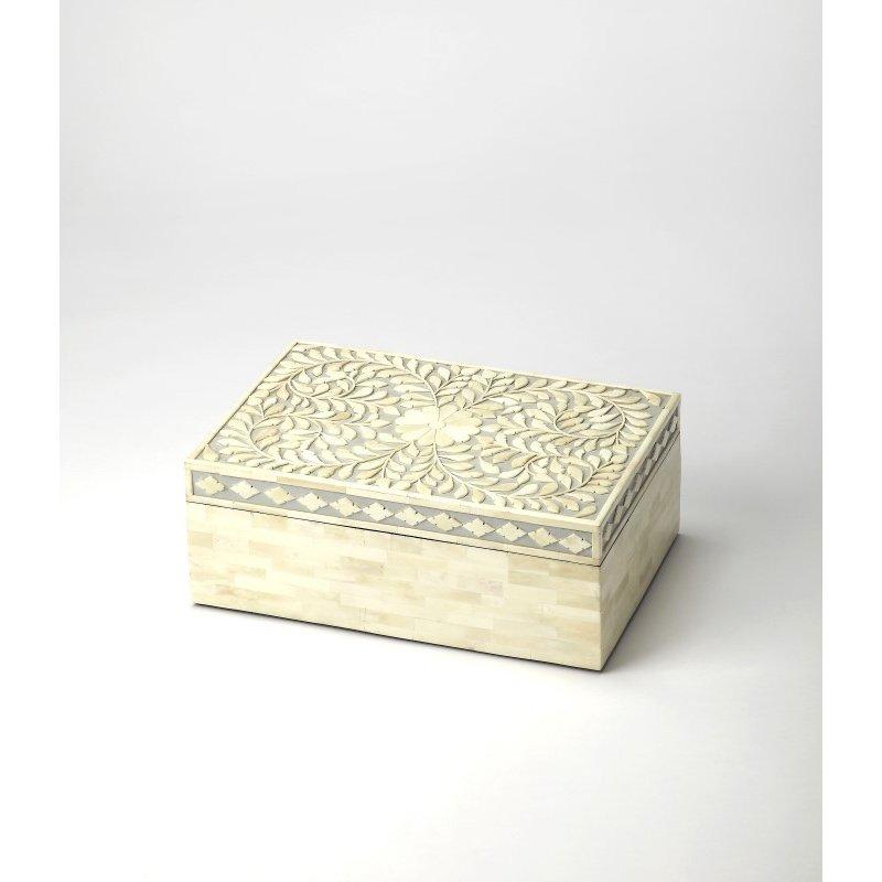Butler Specialty Gray Bone Inlay Storage Box (5174321)