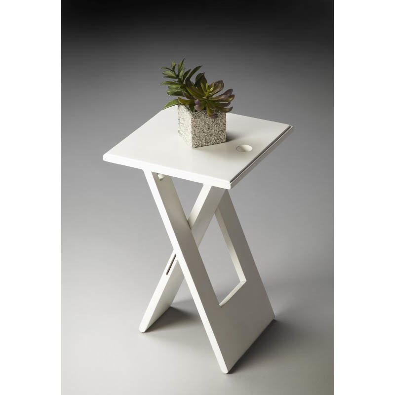 Butler Specialty Hammond White Folding Table