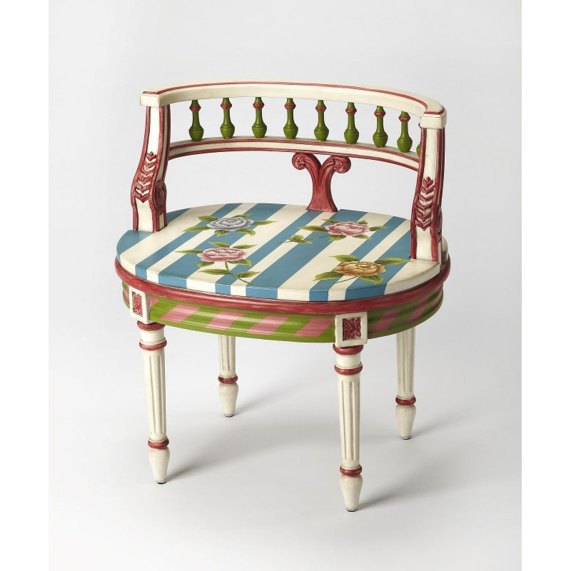 Butler Specialty Hathaway Hand Painted Vanity Seat (1218381)