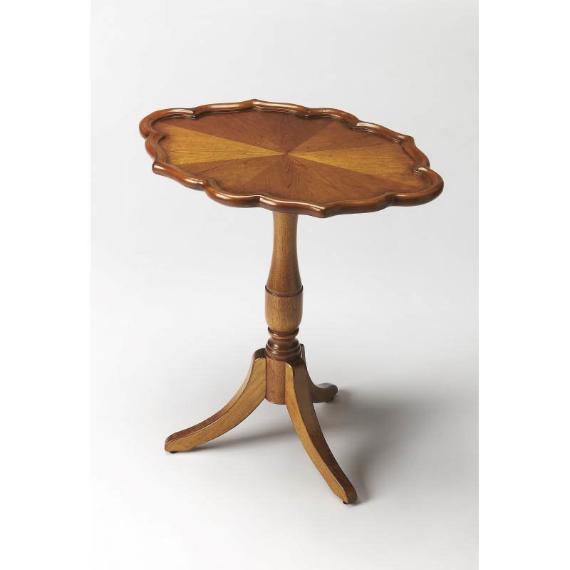 Butler Specialty Higgins Olive Ash Burl Oval Pedestal Table