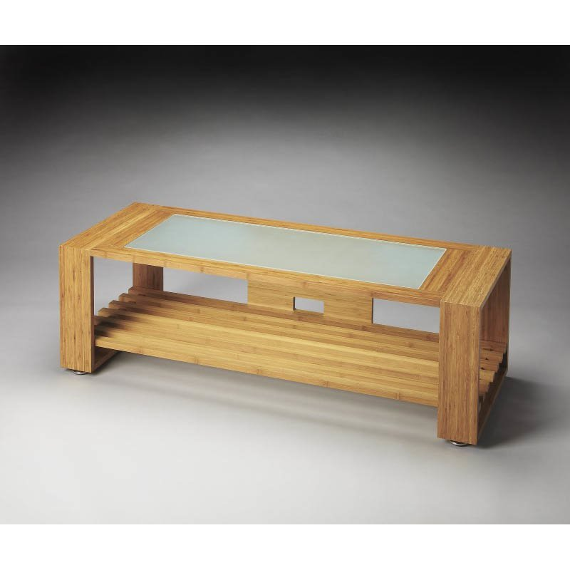 Butler Specialty Ivanhoe Bamboo & Glass Entertainment Console