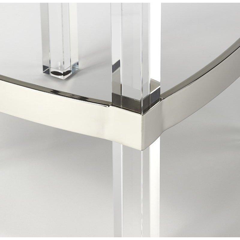 Butler Specialty Jordan Acrylic & White Leather Counter Stool (5322411)