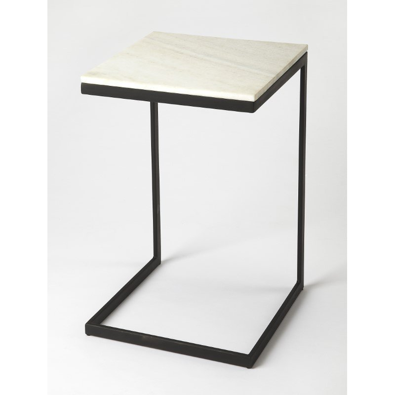 Butler Specialty Lawler Black Metal & Marble End Table (9349295)