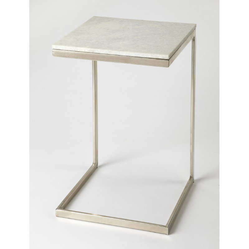 Butler Specialty Lawler Nickel Metal & Marble End Table (9349220)