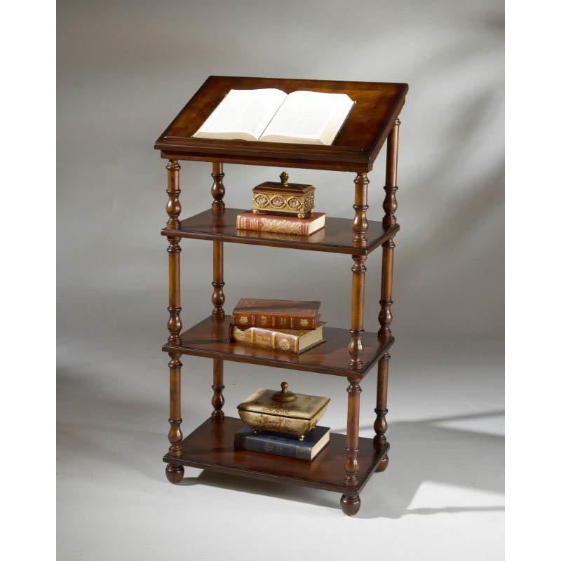 Butler Specialty Library Stand in Plantation Cherry Finish