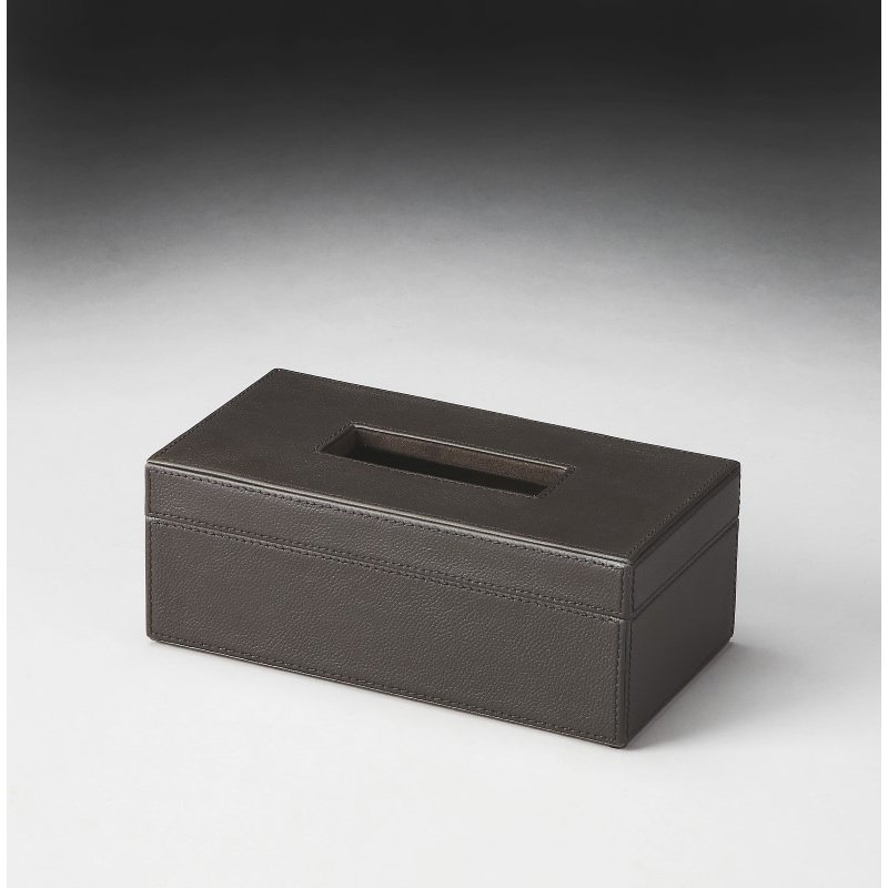 Butler Specialty Lido Brown Leather Tissue Box (2791034)