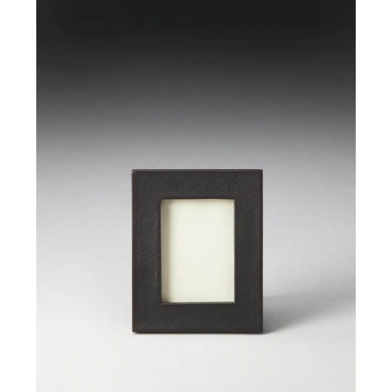 Butler Specialty Lido Leather Picture Frame  in Dark Brown